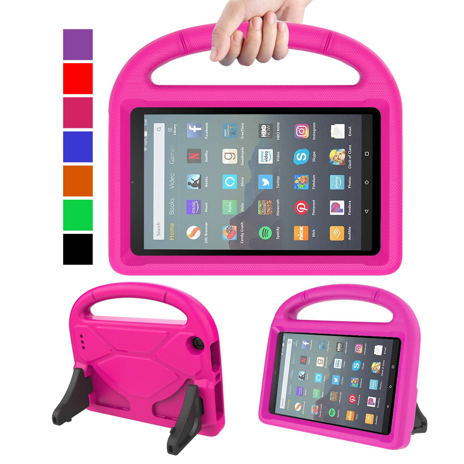 MENZO Kids Case for All-New Fire 7 Tablet (9th Generation - 2019 Release),  Light Weight Shockproof Handle Stand Kids Friendly Case for Amazon Fire 7