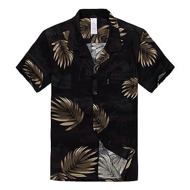 a45279d1c00 Palm Wave Men s Hawaiian Shirt Aloha Shirt at Amazon Men s Clothing ...