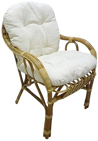 Fauteuil chaise de soleil en osier, bambou et rotin naturel avec ...