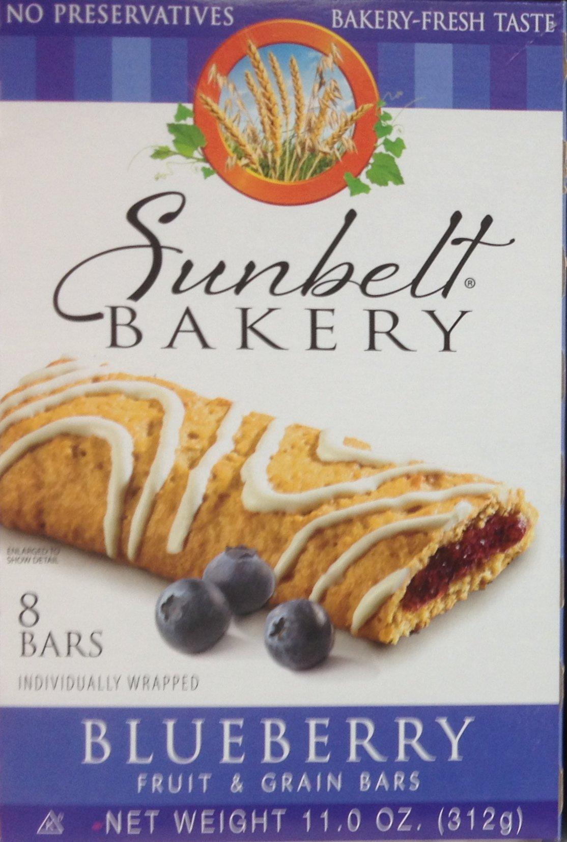 Sunbelt Bakery's BLUEBERRY Fruit & Grain Bars 8-Count (12 Boxes) by Sunbelt Bakery