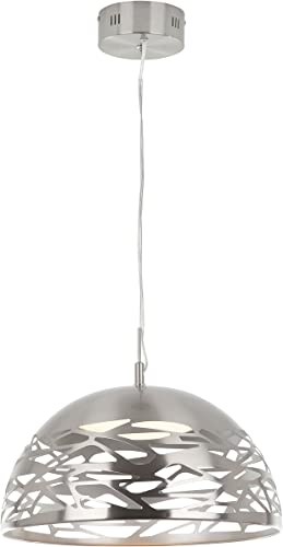Artika AVEM-SS-HD1 Main Avenue Suspended Chandelier with Dimmable Integrated LED, Satin Nickel