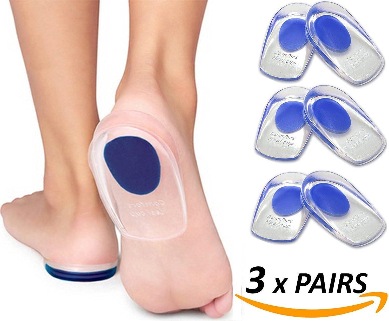2pares Feet comodidad gel talón–Cojín medicinal ischem silicona de talón espolón calcáneo Gel Cojín geleinlagen talón Tija tendón de Aquiles Heel