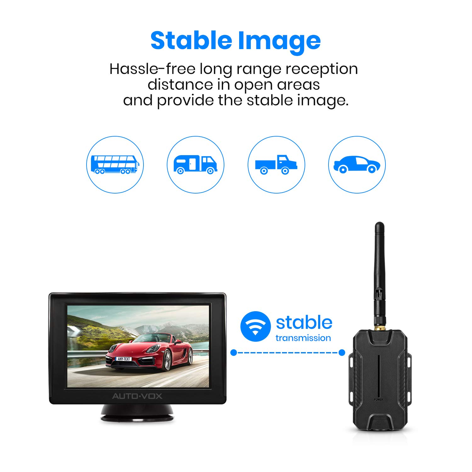 galleon auto vox m1w wireless backup camera kit ip 68. Black Bedroom Furniture Sets. Home Design Ideas