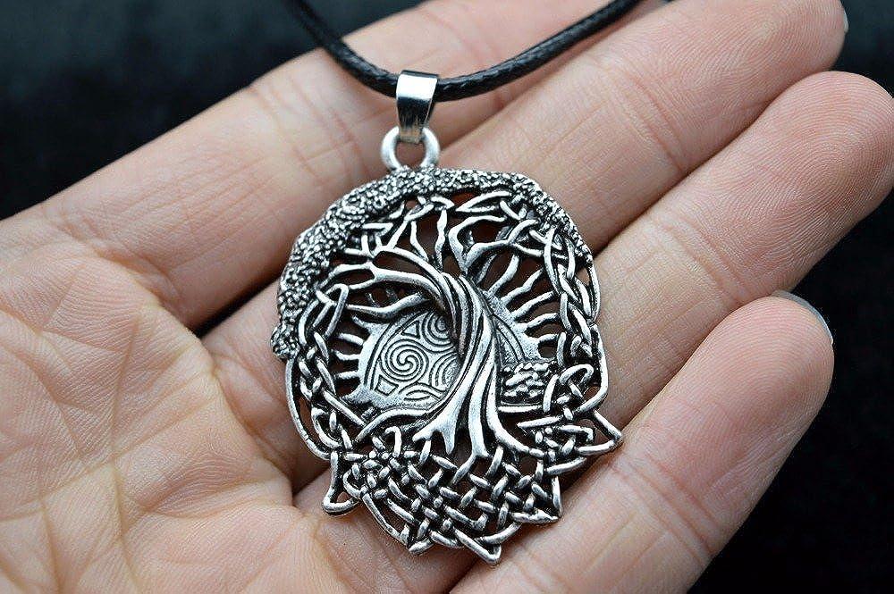 /Bijoux TM Argent antique orn/é Collier Pendentif arbre du monde Norse Viking Yggdrasil Druide Arbre de vie Talisman Rune Slaves Pegan celtique 3 /E/ Miss/