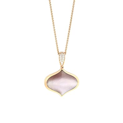Amazoncom Kabana 14K Rose Gold Pink Mother of Pearl Diamond