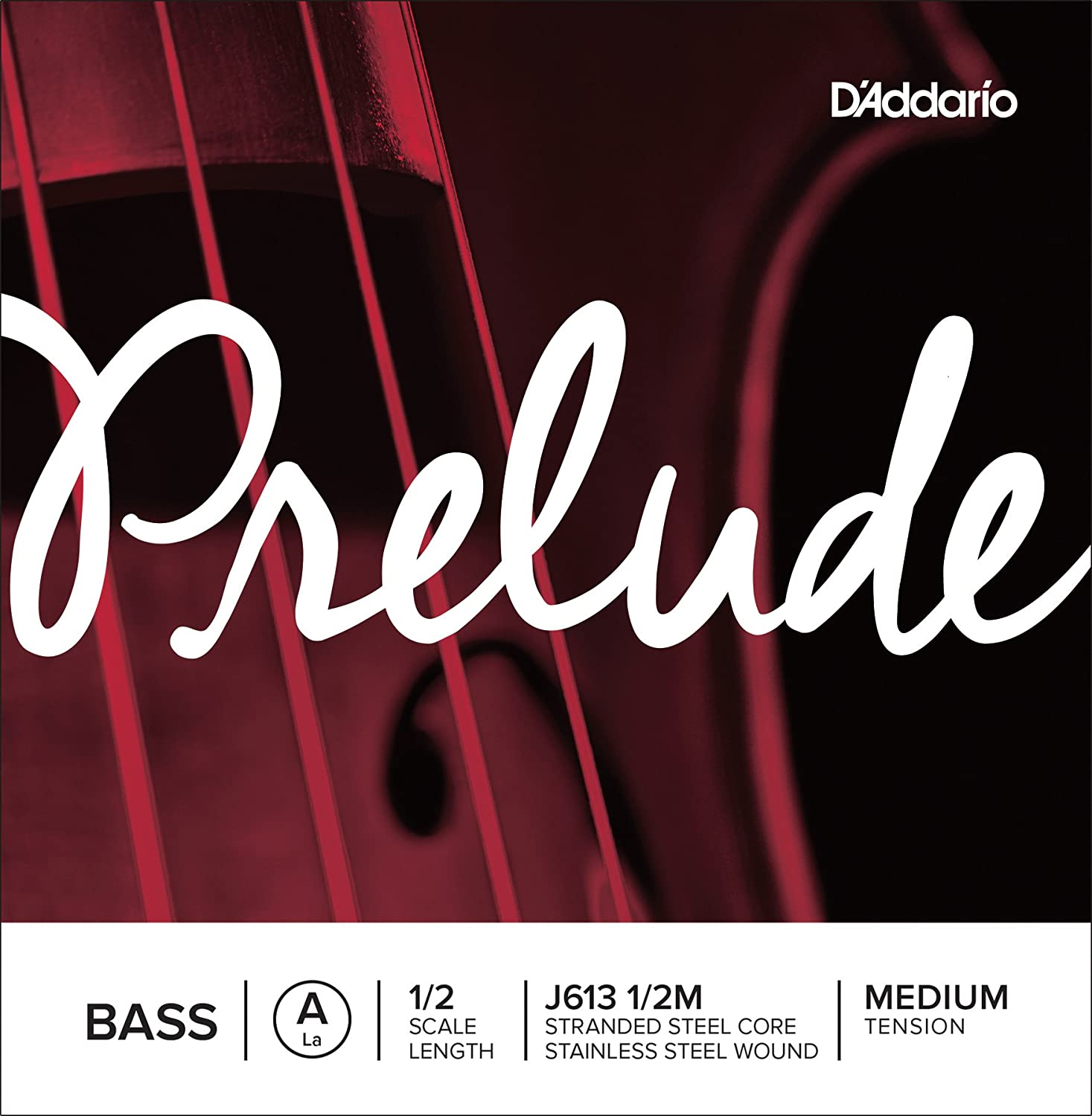 D'Addario Prelude Bass Single D String, 3/4 Scale, Medium Tension D' Addario J612 3/4M