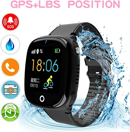 Kids Smartwatch with GPS Tracker, Kids Smart Watch Phone Waterproof Sports Watch 1.44 HD Touch Screen Anti-Lost SOS Call Phone with Alarm Clock ...
