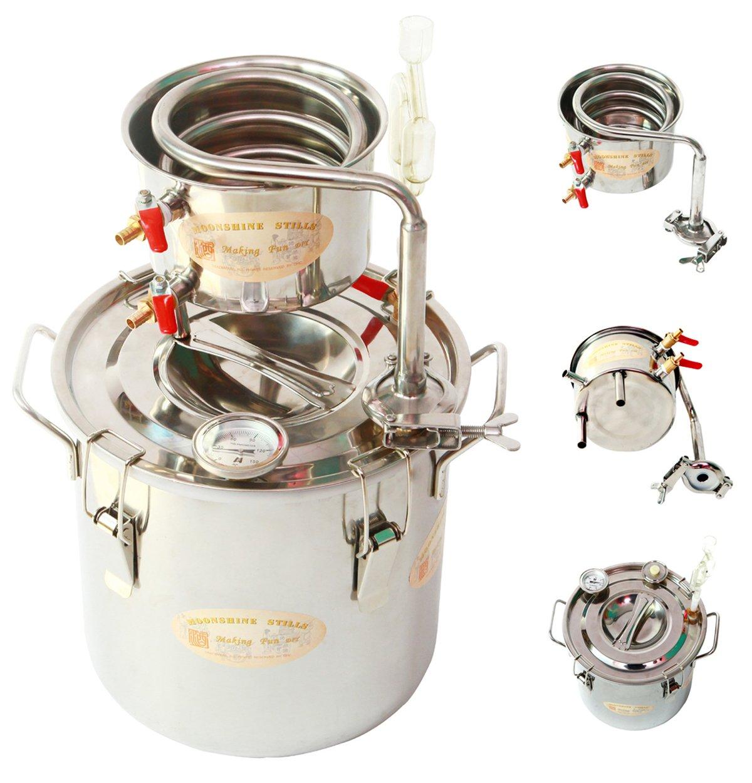 New Copper 8 Gal 30 Litres Alcohol Moonshine Still Spirits Distiller Brew Home Kit