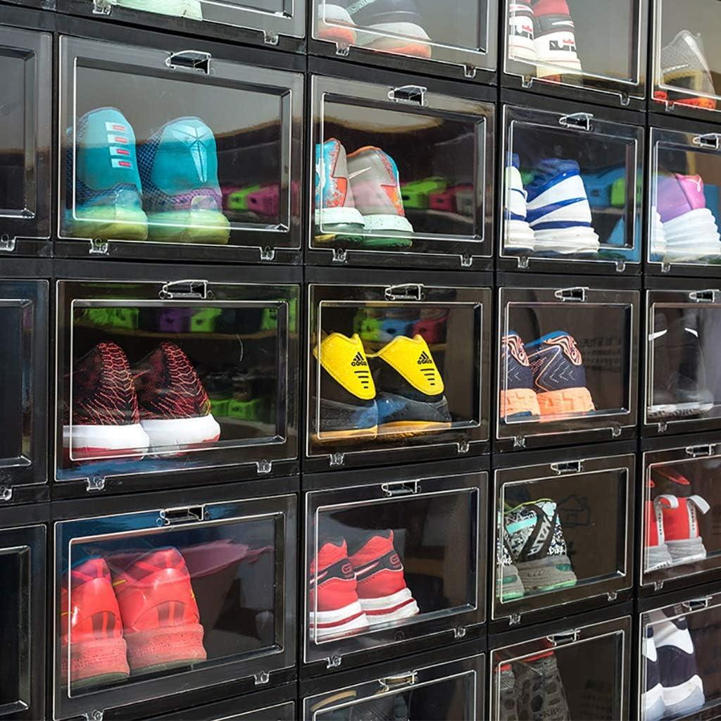 8 Boîtes de rangement en plastique verticaux de stockage Haut Baskets montantes Collection Combinaison d'affichage Chaussures Cabinet (Color : C) A