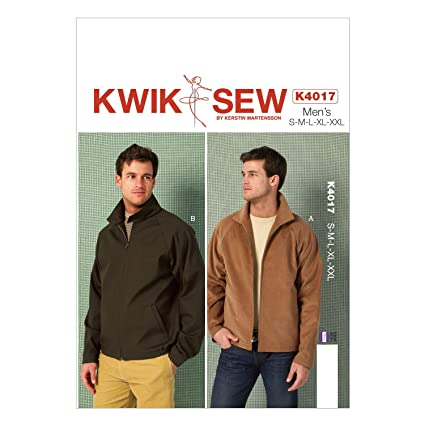Amazon.com: KWIK-SEW PATTERNS K4017 Men\'s Jackets Sewing Template ...