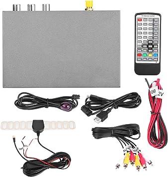 Qiilu Europa Tipo universal Decodificador de red ,Car HD DVB-T2 1080p Caja de receptor de TV digital Antena Soltero con interfaz HDMI: Amazon.es: Coche y moto