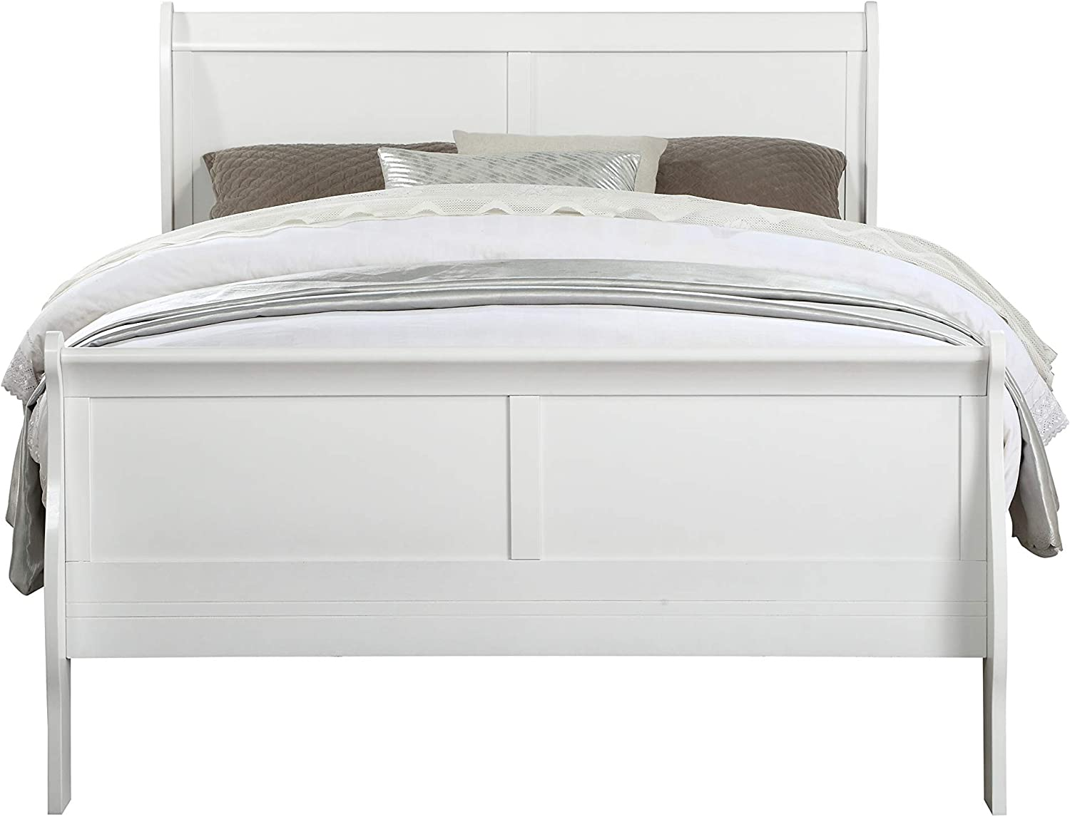 ACME Furniture Louis Philippe Full Bed, White