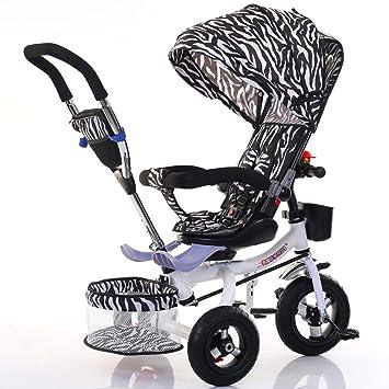 Bicicletas para niños Guo Shop- Triciclo Infantil Cochecito Plegable de bebé para Bicicleta 1-