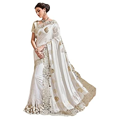 e3c3579c5 Amazon.com: Wedding Bridal Indian Saree Sari Blouse Party Wear Collection  Ceremony Women Muslim eid 615 25: Clothing