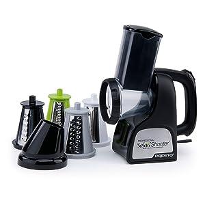 Presto® Professional SaladShooter Electric Slicer/Shredder- 02970, Black