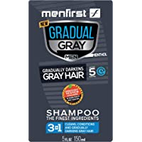 MENFIRST Gradual Gray 3-in-1 Grey Hair Reducing SHAMPOO For Men - Scalp Wash that Cleans, Darkens, Conditions, and…