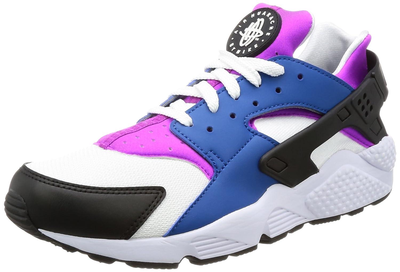 NIKE Men's Air Huarache Running Shoes B0728HYGNJ 8 D(M) US|Blue Jay/White/Hyper Violet