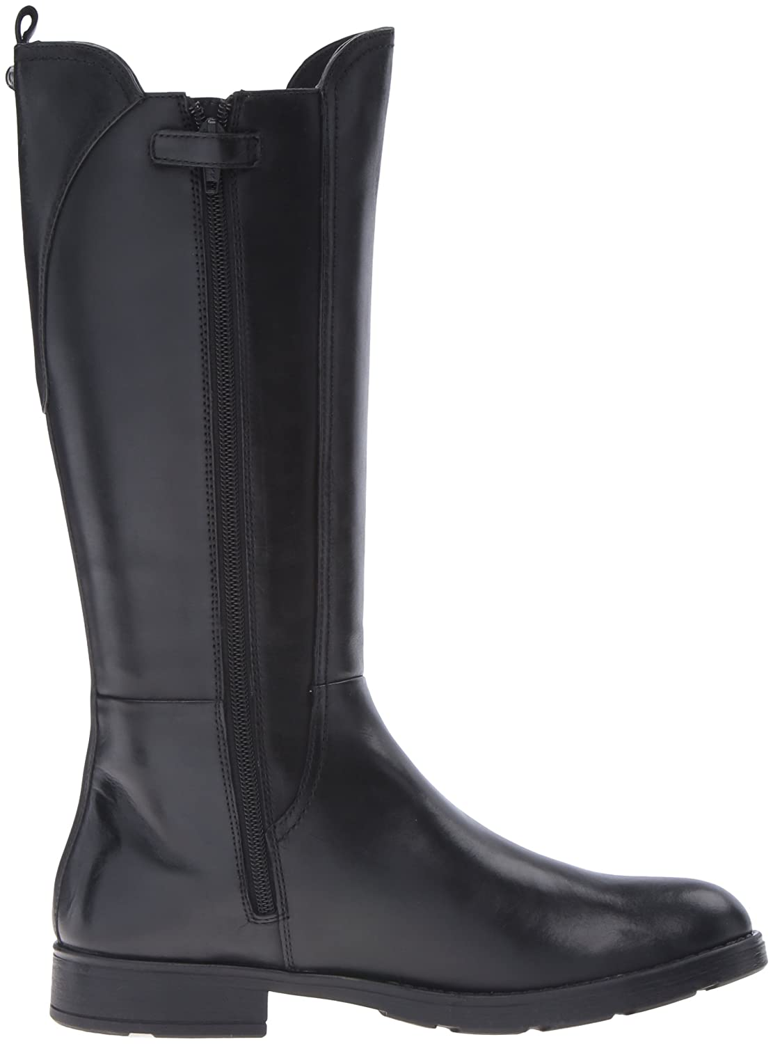 Geox J Sofia C Girls Leather Tall Boots / Shoes-Black-5.5: Amazon.ca: Shoes  & Handbags