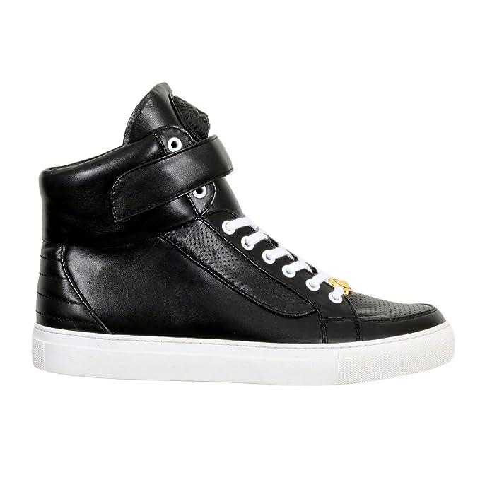 Versace Hi Top Negro Zapatillas Deportivas vers4783, Hombre, Color Negro, tamaño Medium: Amazon.es: Ropa y accesorios