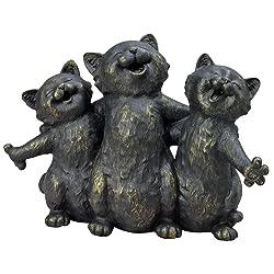 three singing cats statue