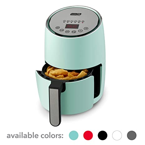 DASH Compact Electric Air Fryer + Oven Cooker with Digital Display,  Temperature Control, Non Stick Fry Basket, Recipe Guide + Auto Shut Off  Feature,