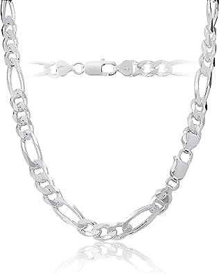 Silver Figaro chain 67 Grams Sterling Silver Chain Necklace Silver Chain Italian 925 Silver Chain 20 Inch Silver Mens Chain