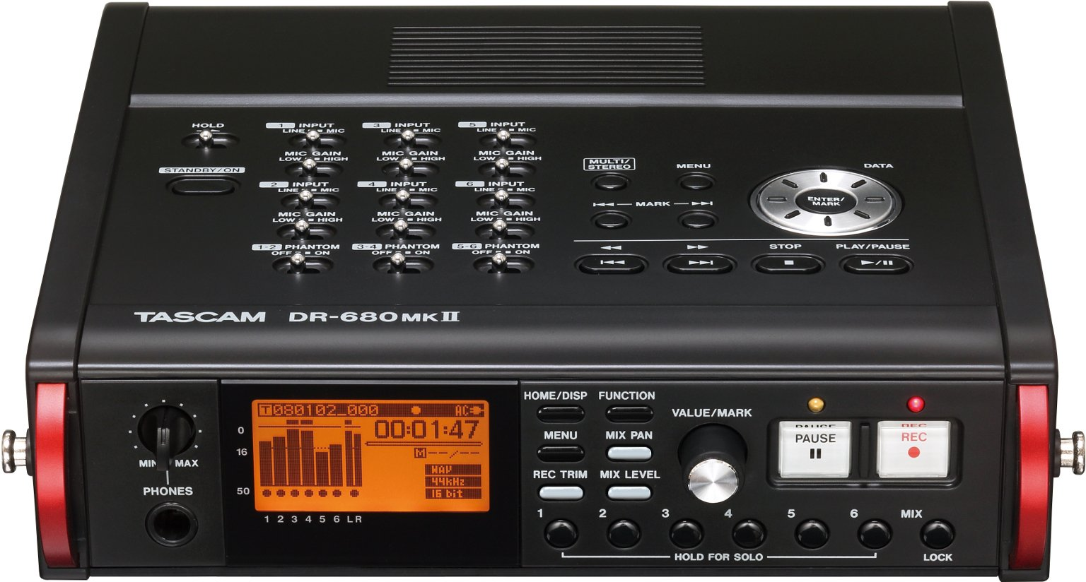 Tascam DR-680MKII 8-Track Digital Field Audio Recorder by Tascam
