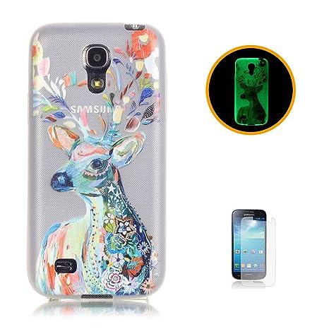 CaseHome Compatible For Samsung Galaxy S4 Mini Luminoso Funda Gel de Silicona Suave Transparente TPU Caucho Proteccion Espalda Caso Cubrir Estuche ...