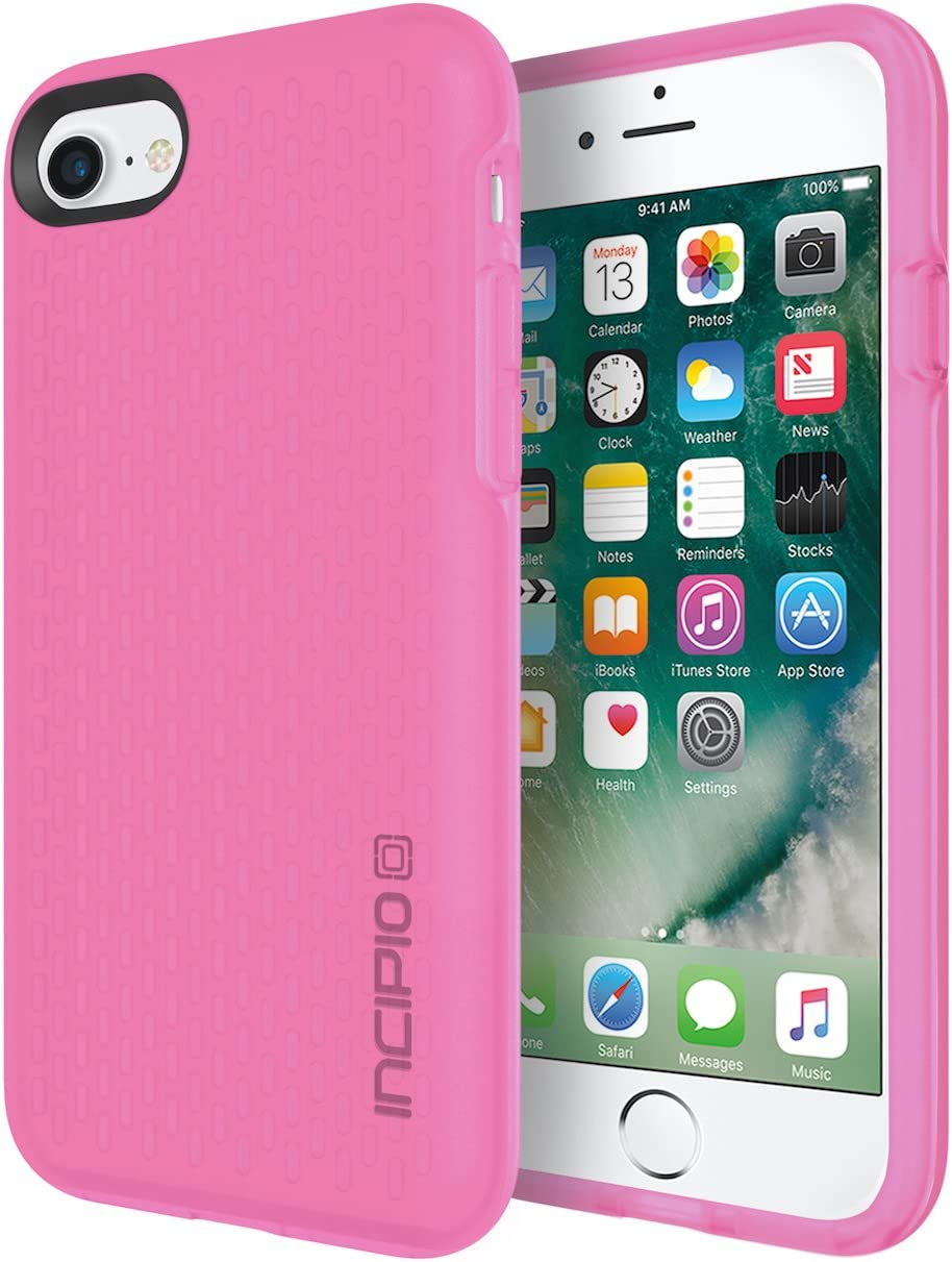 Incipio Haven iPhone 8 & iPhone 7 Case with Precision Engineered Suspension Padding Units for iPhone 8 & iPhone 7 - Highlighter Pink/Candy Pink