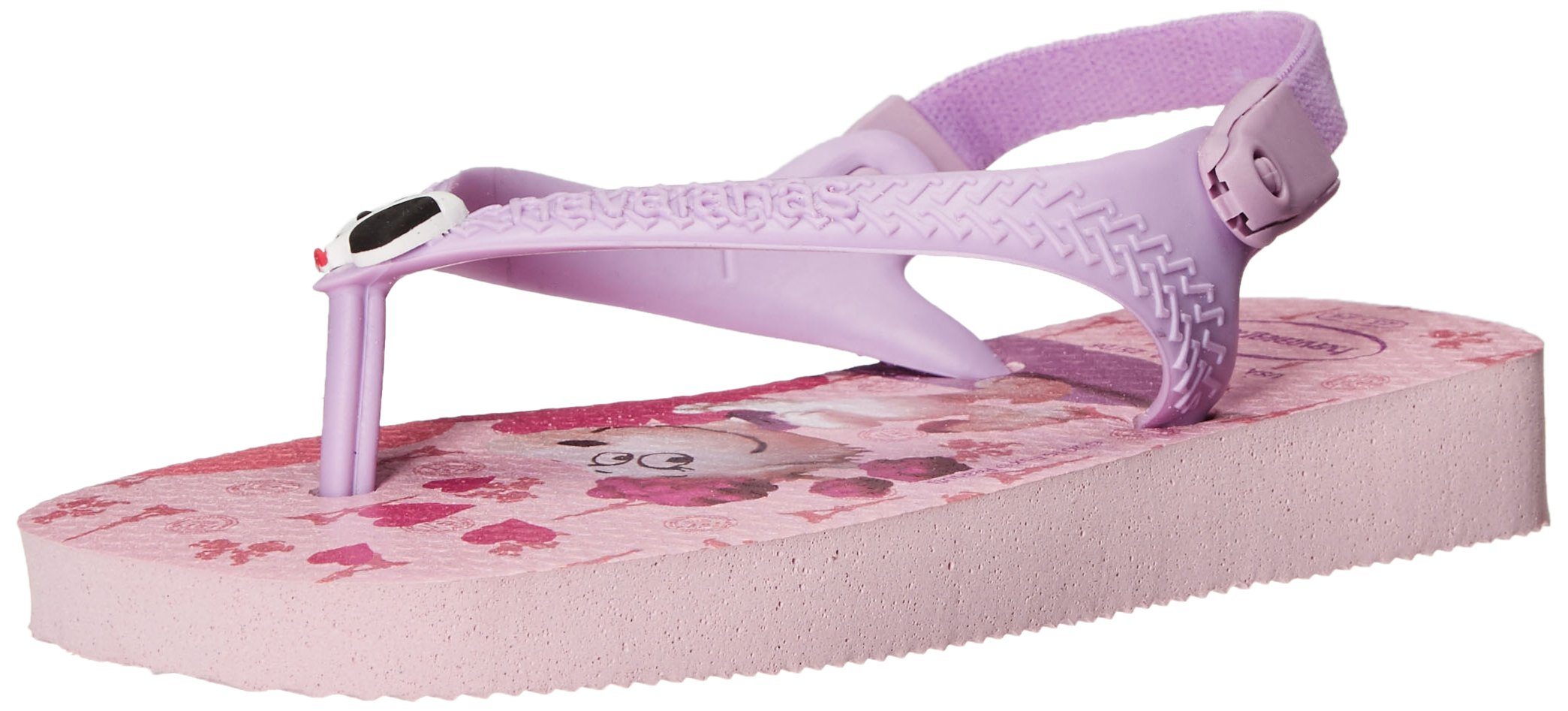 Havaianas Baby Flip Flop Sandals With Backstrap, Peanuts, Snoopy and Fifi,Pink/Lilac,21 BR (7 M US Toddler)