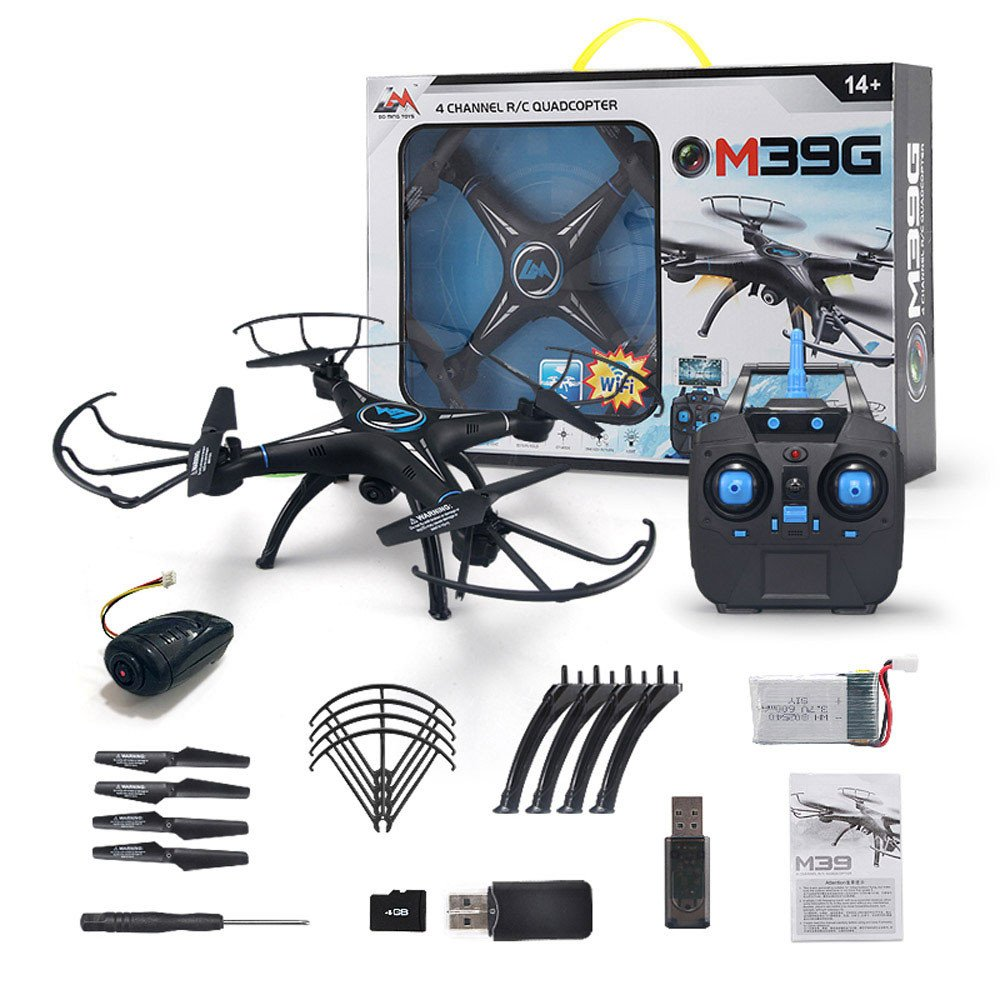 Remote Control Helicopter, Helicopter RC Drone With 0.3MP Camera 720P HD,Intelligent Operation Altitude Hold and Headless Mode, One Button Take Off/Landing, Emergency Stop (Normal+Wifi+Camera) by ALLWORLD