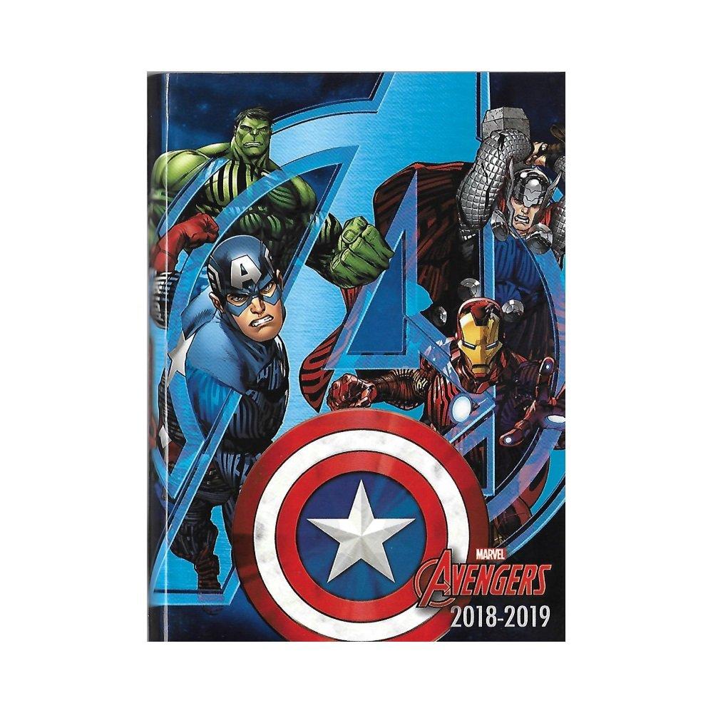 Marvel Avengers - Agenda Anné e Scolaire 2018-2019 - Multilingue - 17x12cm - Bleu