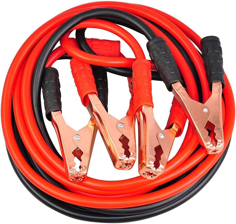 EUROXANTY® Arrancador De Coche | Pinzas De Bateria De Coche y Motos | Arranque Kit Para Coche Con Pinzas | Cable De Refuerzo | 1500 AMP