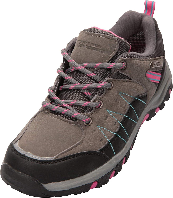 Mountain Warehouse Chaussures de Marche Stampede Enfants rev/êtement Maille /& Daim pour gar/çons et Filles Chaussures de Course /à Semelle Haute Traction imperm/éables