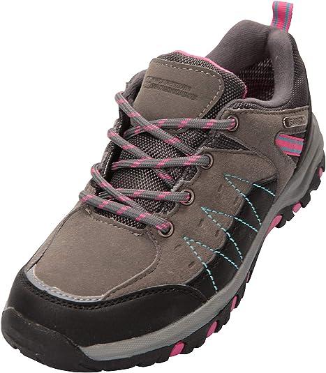 Chaussures de Course /à Semelle Haute Traction Mountain Warehouse Chaussures de Marche Stampede Enfants pour gar/çons et Filles imperm/éables rev/êtement Maille /& Daim
