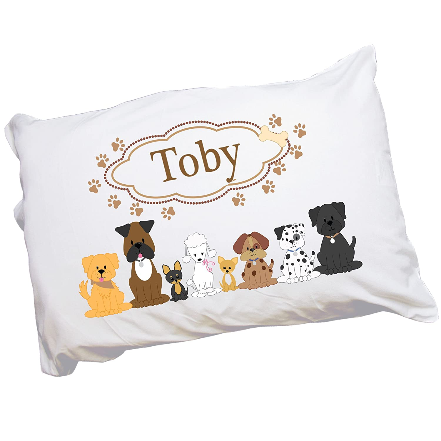 MyBambino Personalized Puppy Dog Pillowcase