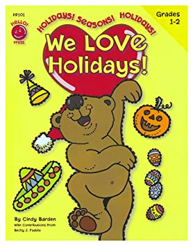 Amazon.com : We Love Holidays! Grades 1st - 2nd (8.5 x 11 inches ...