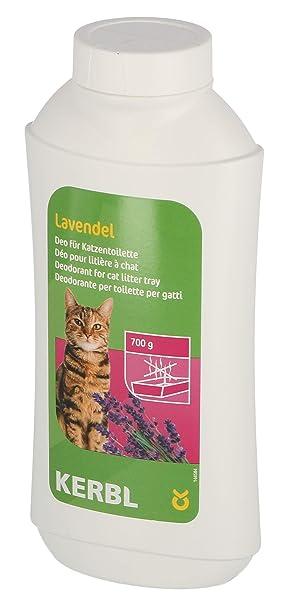 Kerbl Desodorante concentrado 700 g para arenero de gato, lavanda: Amazon.es: Productos para mascotas