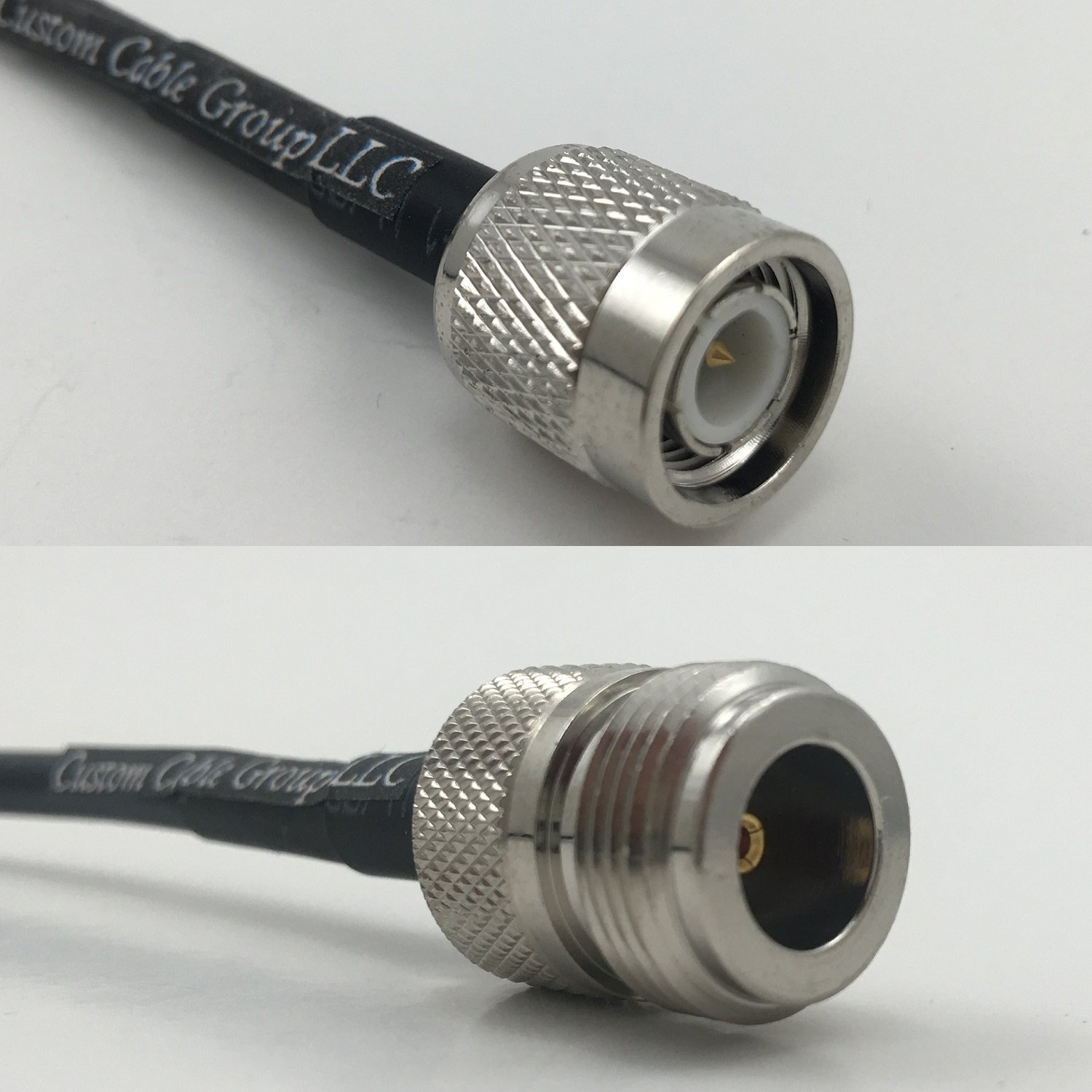 1 foot RG58 TNC MALE to N FEMALE Pigtail Jumper RF coaxial cable 50ohm High Quality Quick USA Shipping