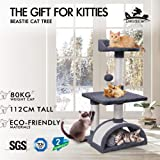 BEASTIE Cat Tree Scratching Post Scratcher Tower Condo House Furniture Wood 82cm Grey Colour