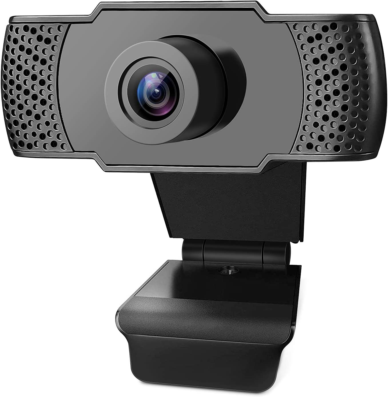 Whew 1080P HD Webcam with Microphone, Video Call Available Pro Streaming Web Camera, Widescreen USB Computer Camera for PC Mac Laptop Video Calling Conferencing Recording (Black)