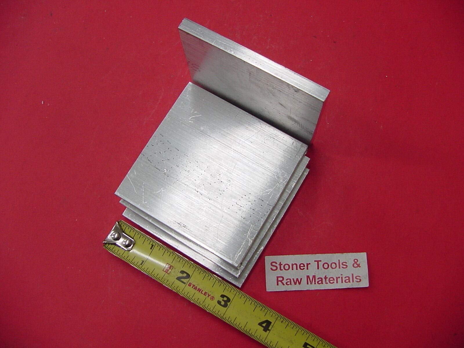 4 pieces 1/4'' X 3'' ALUMINUM 6061 FLAT BAR 3'' long T6511 SOLID Plate Mill Stock by Okumahome