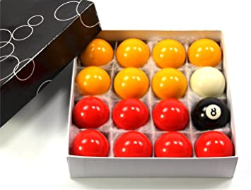 Funky Chalk Economy Red & Yellow Pool Ball Set – 1 7/8Inch (48mm ...