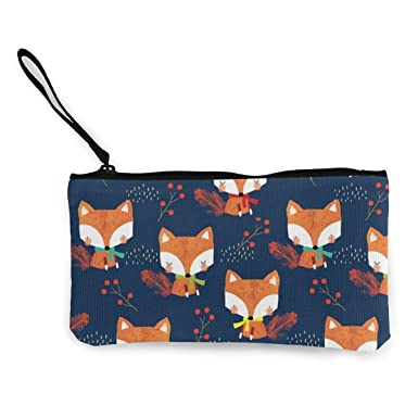 Canvas Coin Purse Stylish Canvas Cash Coin Purse Cellphone Bag With Handle-4.5 X 8.5 Inch Make Up Bag