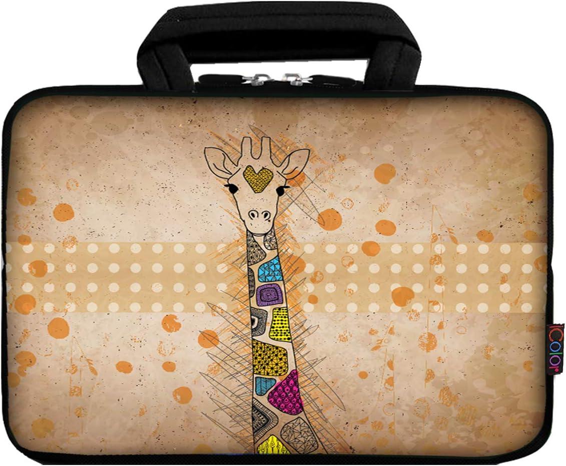 iColor 11 11.6 12.1-inch Laptop-Case Bag - Notebook Chromebook Case Ultrabook Bag Sleeve Computer Protective Cover Carrier Pouch (CuteGiraffe)