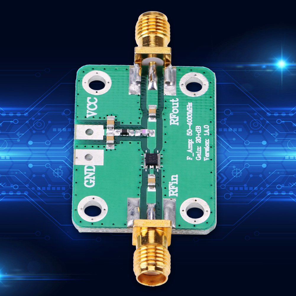 433MHz RF Broadband Amplifier Ham Radio Module 22dB High Gain Low Noise LNA Amplifier Module Board