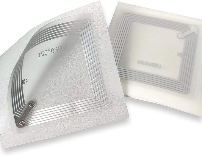 10 X NFC Tags   NXP Chip NTAG213   memoria de 144 bytes   Etiquetas cuadradas transparentes   antena ancha   alta potencia de escaneo   diseño ultra ...