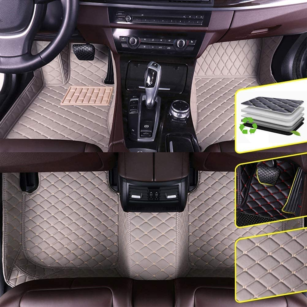 FORD FOCUS 2011-2014 Tailored Carpet Car Floor Mats BLACK MAT WITH RED EDGING