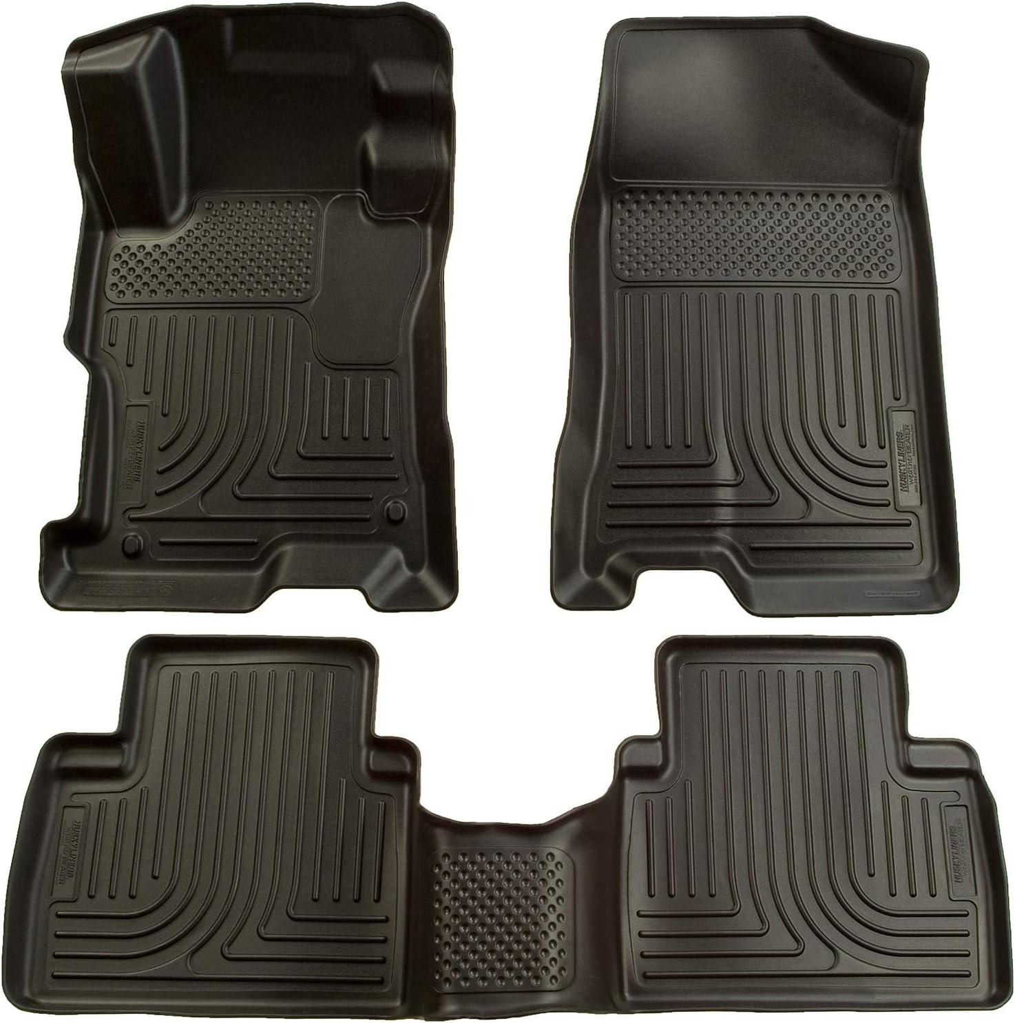 Husky Liners Fits 2006-11 Honda Civic 4 Door Weatherbeater Front & 2nd Seat Floor Mats,Black,98411