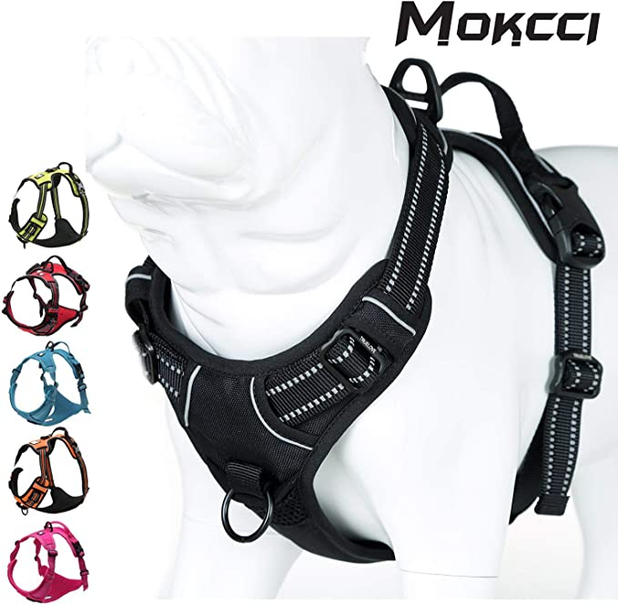 Mokcci - Arnés reflectante para perro, frontal suave, antitirones ...